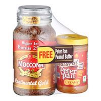 Moccona Instant Coffee - Continental Gold+Free 462g Peanut Butter 250G