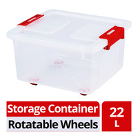 HomeProud Storage Container with Rotatable Wheels