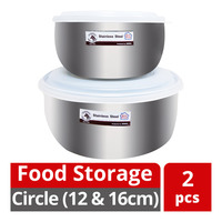 HomeProud Food Storage Container - Circle (12 & 16cm)