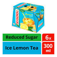 F&N SEASONS Ice Lemon Tea With Reduced Sugar 6sX300ml