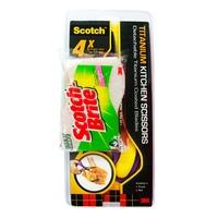 3M Scotch Titanium Kitchen Scissors - Purple + Scrub Sponge
