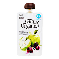 Heinz Organic Baby Puree Pouch - Apple, Raspberry & Blackberry