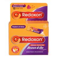 Redoxon Boost & Go Powder Sticks - Raspberry & Honey