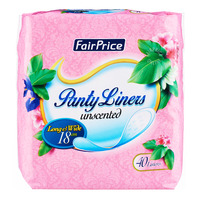 FairPrice Unscented Panty Liners - Long & Wide (18cm)