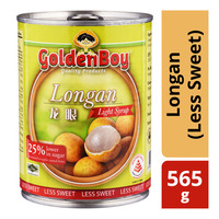 Golden Boy Fruits in Light Syrup - Longan (Less Sweet)