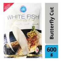 Fish Bay Frozen White Fish - Butterfly Cut