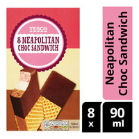 Tesco Ice Cream - Neapolitan Choc Sandwich