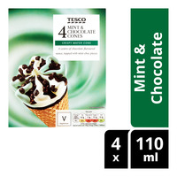 Tesco Ice Cream Cones - Mint & Chocolate