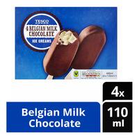 Tesco Ice Cream Sticks - Belgian Milk Chocolate