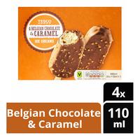 Tesco Ice Cream Sticks - Belgian Chocolate & Caramel