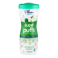 Plum Organics Super Puffs - Apple with Spinach