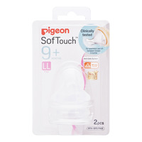 Pigeon Peristaltic Plus Wide Neck Teats - LL (9+ months)