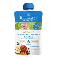 Bellamy's Organic Ready to Eat Baby Food - MangoBlueberry&Apple