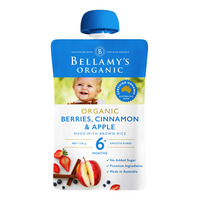 Bellamy's Organic Ready to Eat Baby Food - BerriesCinnamon&Apple