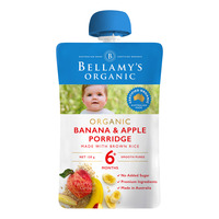 Bellamy's Organic Ready to Eat Baby Food - Banana Apple Porridge