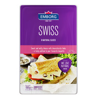 Emborg Natural Cheese Slices - Swiss