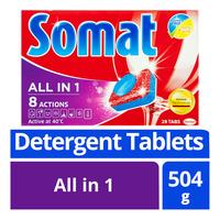 Somat Dishwash Detergent Tablets - All in 1