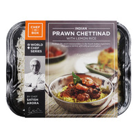 Chef-in-Box Ready Meal - Prawn Chettinad with Lemon Rice
