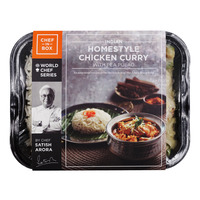 Chef-in-Box Ready Meal - Homestyle Chicken Curry with Pea Pulao
