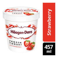 Haagen-Dazs Frozen Yogurt - Strawberry
