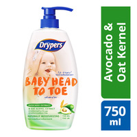 Drypers Baby Head To Toe Wash - Avocado & Oat Kernel