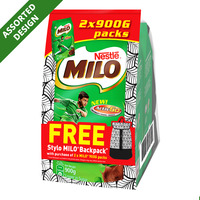 Milo Instant Chocolate Malt Drink Powder Refill + Backpack