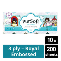 Pursoft Bathroom Tissue Roll - Unscented (3ply)