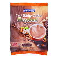 FairPrice 3 in 1  Instant White Coffee - Hazelnut