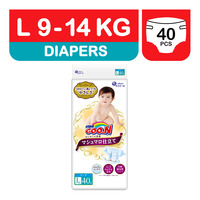 GOO.N Marshmallow Premium Soft Diapers - L (9 - 14kg)