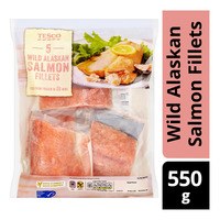 Tesco Frozen Wild Alaskan Salmon Fillets