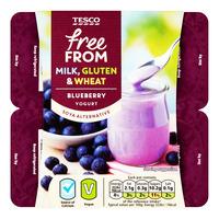 Tesco Free From Yogurt - Blueberry