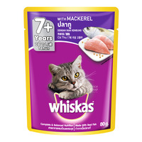 Whiskas Pouch Cat Food - Mackerel (7+ years)