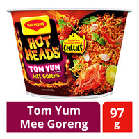 Maggi Hot Heads Instant Bowl Noodle - Tom Yum Mee Goreng