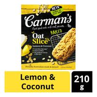 Carman's Baked Oat Slices - Lemon & Coconut