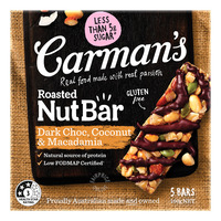 Carman's Nut Bars - Dark Choc, Macadamia & Coconut