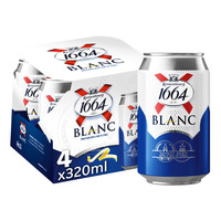 Kronenbourg 1664 Blanc Can 4 x 320ml Wheat beer