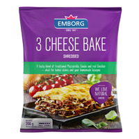 Emborg Shredded Cheese - 3 Cheese Bake