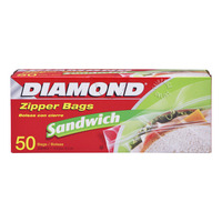 Diamond Zipper Bags - Sandwich