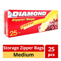 Diamond Storage Zipper Bags - Medium