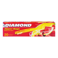 Diamond Storage Zipper Bags - Large