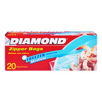 Diamond Freezer Zipper Bags - Medium