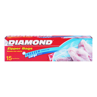 Diamond Freezer Zipper Bags - Large
