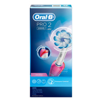 Oral-B Pro 500 Electric Toothbrush - CrossAction (Pink)