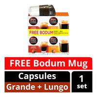 Nescafe Dolce Gusto Beverage Capsules + Free Bodum Travel Mug