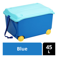 Imported Storage Box with Wheels - Blue