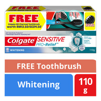Colgate Colagte Sensitive Pro Releif Whitening Toothpaste 110g with Free HD Charcoal Toothbrush