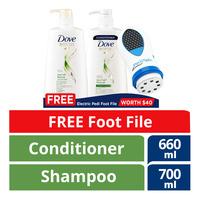 Dove Shampoo & Conditioner - Hair Fall Rescue+Foot File