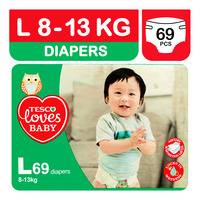Tesco Loves Baby Diapers - L (8 - 13kg)
