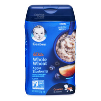 Gerber Baby Whole Wheat Cereal - Apple & Blueberry