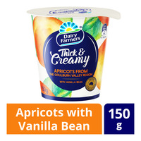 Dairy Farmers Thick & Creamy Yoghurt - Apricots with Vanilla Bean